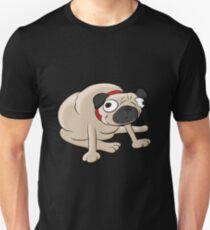 Pug Cartoon Pet Portrait Unisex T-Shirt