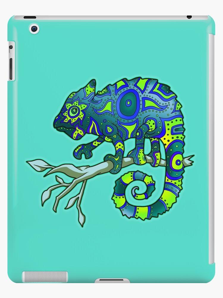 Chameleon (Blue Lime) by PenScalesDesign