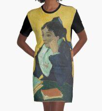 Vincent Van Gogh - Larlesienne, Portrait Of Madame Ginoux, 1888-89 Graphic T-Shirt Dress