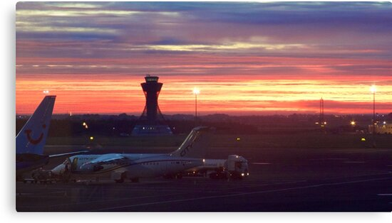 Newcastle Airport Dawn Sunrise by Rob Cole