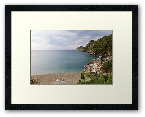 Liapades Beach, Corfu Island, Greece by Rob Cole