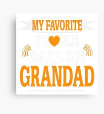 Favorite Grandad Shirt Canvas Print