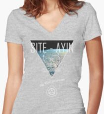 Site-Ayin SCP Visual 2 Women's Fitted V-Neck T-Shirt