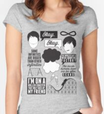 The Fault In Our Stars Collage Women's Fitted Scoop T-Shirt