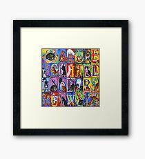 Cats Alphabet Framed Print
