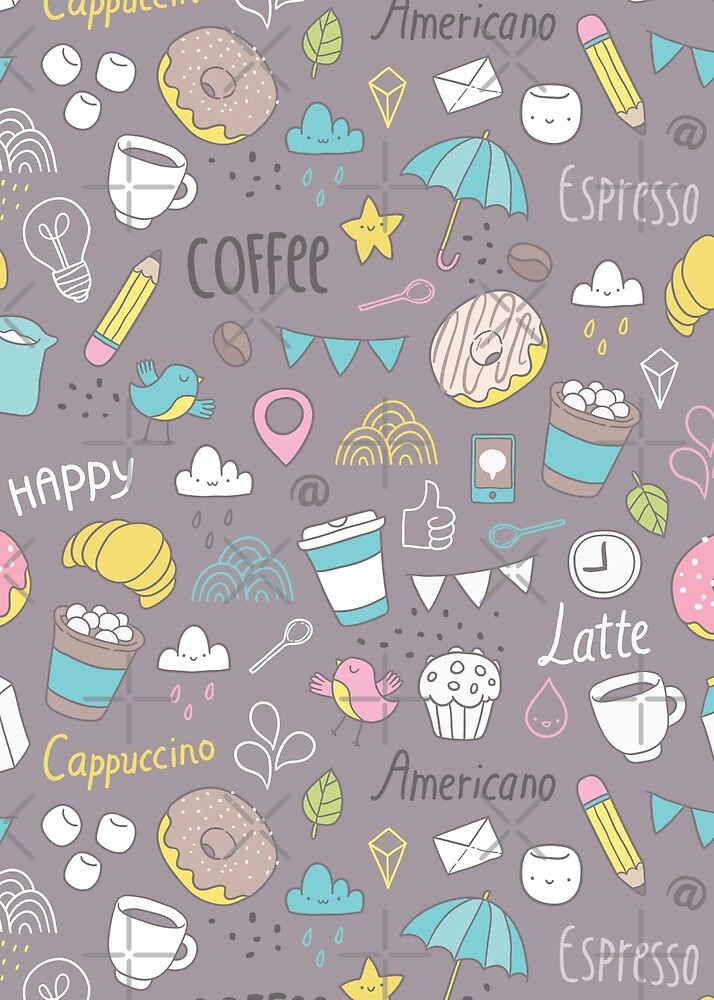 Coffee pattern by Anna Alekseeva