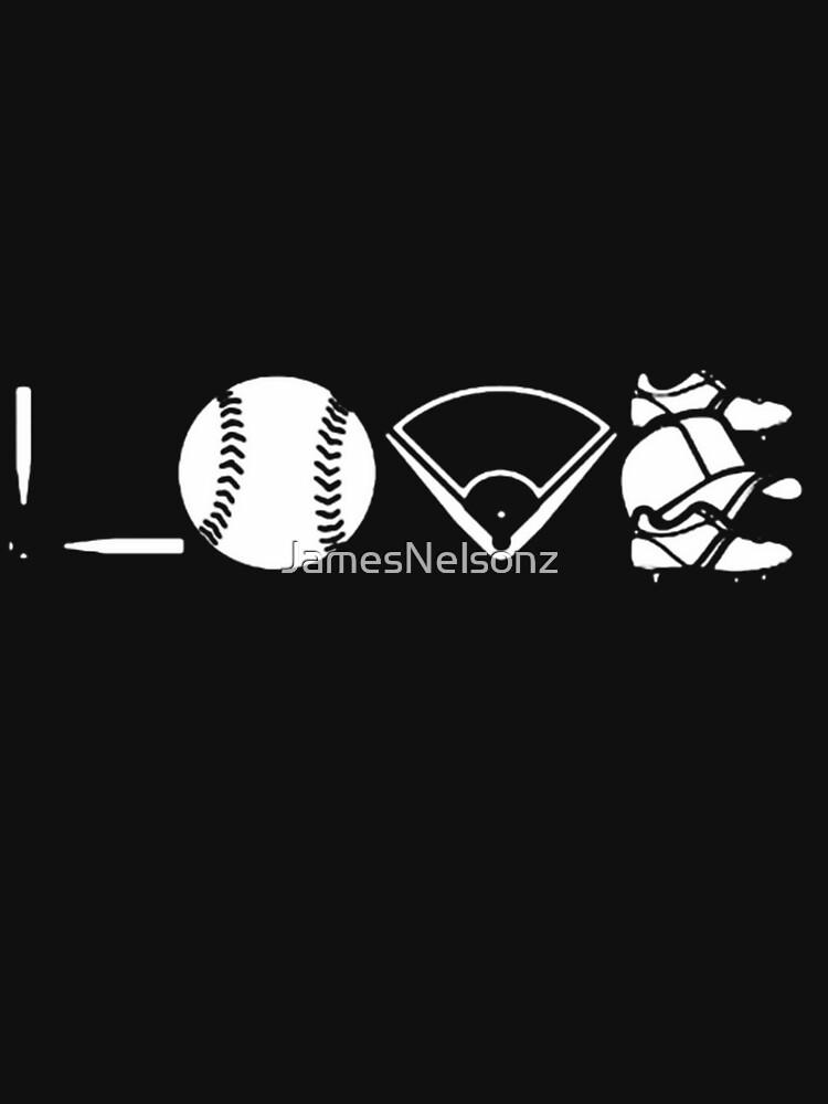 Love Baseball Shirt by JamesNelsonz