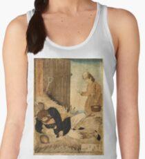 Anonymous - A Girls Kindness Sometimes Surpasses A Gentlemans - Circa 1875 - Woodcut Women's Tank Top
