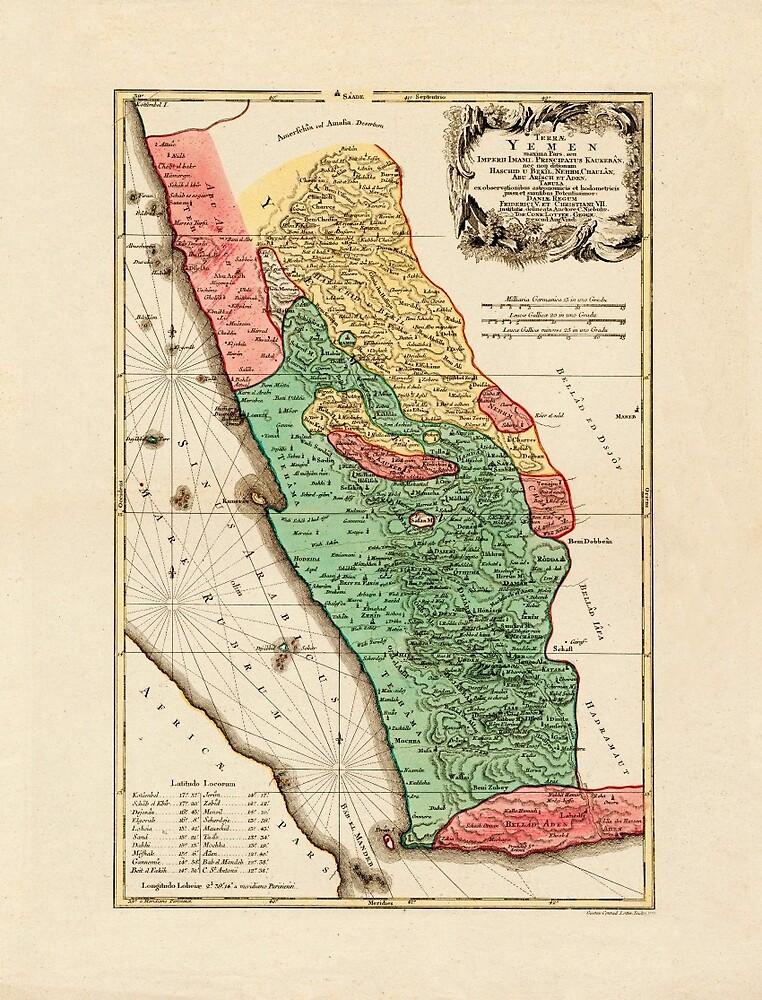 Map Of Yemen 1774 by mollyfare