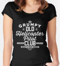 Helicopter Pilot Club Women's Fitted Scoop T-Shirt