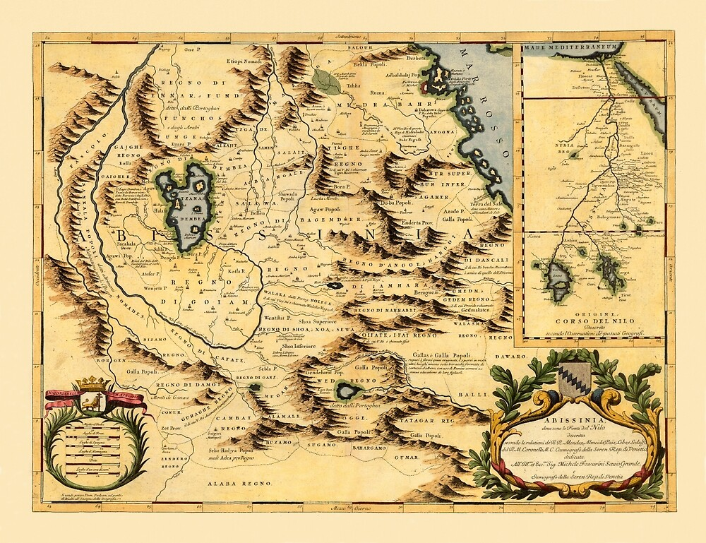 Map Of Africa 1690 by mollyfare