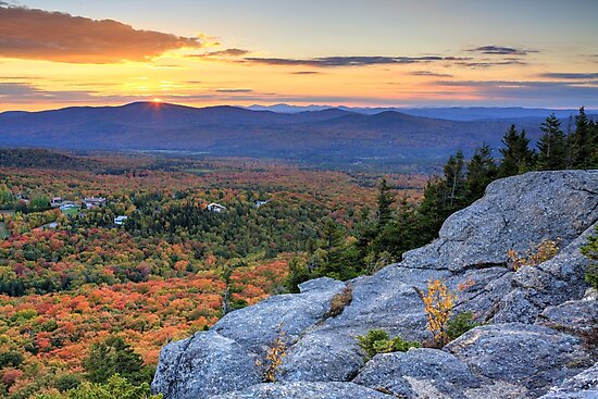Sunset on the Great North Woods of New Hampshire by Daniel Brown