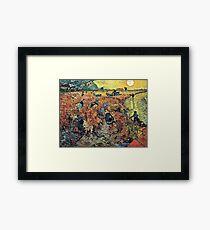 Vincent Van Gogh - Red Vineyards  Framed Print