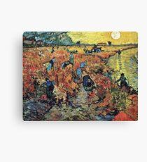 Vincent Van Gogh - Red Vineyards  Canvas Print