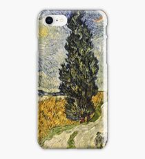 Vincent Van Gogh - Road With Cypresses 1890  iPhone Case/Skin