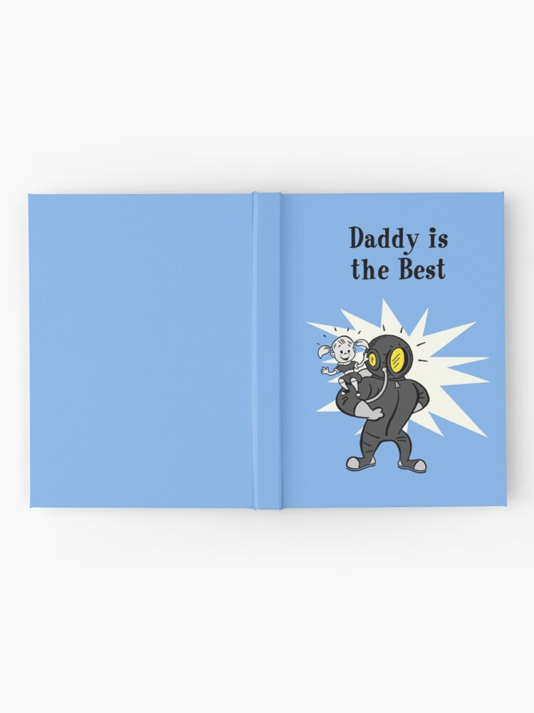 Alternate view of BioShock – Daddy is the Best Poster (Black) Hardcover Journal