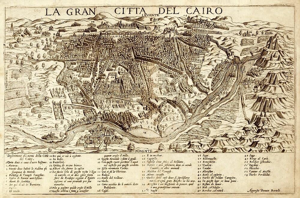 Map Of Cairo 1575 by mollyfare
