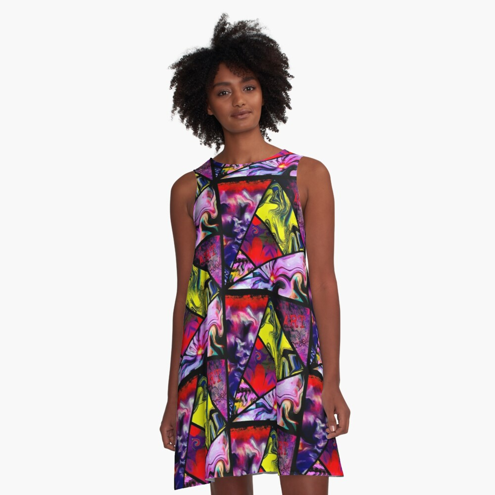 abstract comic A-Line Dress Front