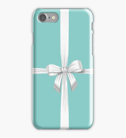 Blue Ribbon Gift iPhone Case/Skin