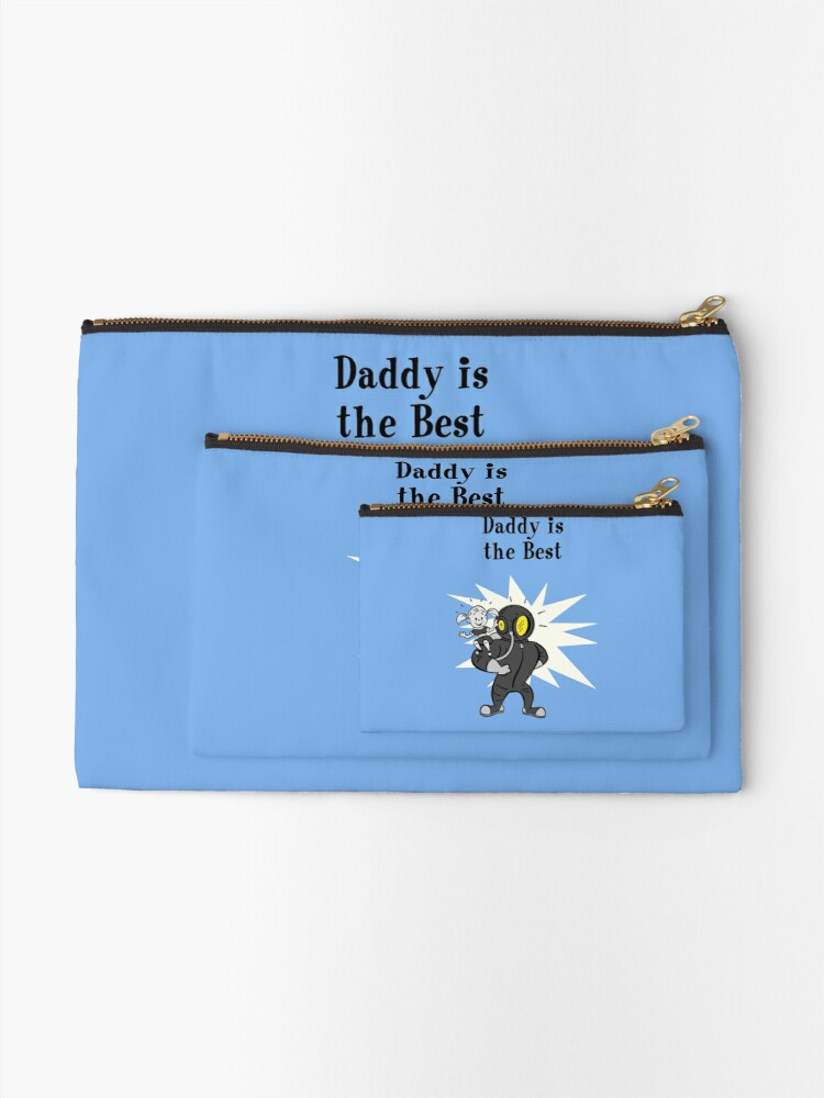 Alternate view of BioShock – Daddy is the Best Poster (Black) Zipper Pouch