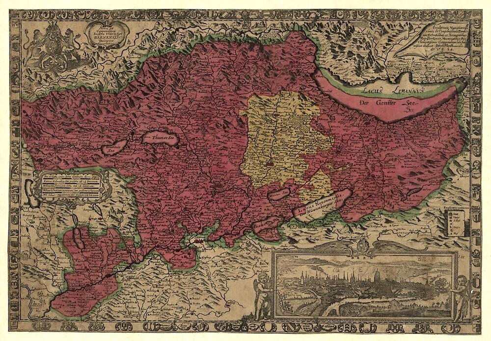 Map Of Bern 1638 by mollyfare