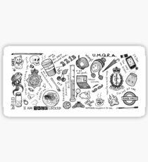 Sherlock Collage (grayscale) Sticker