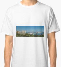 Panorama of Malaga port Classic T-Shirt