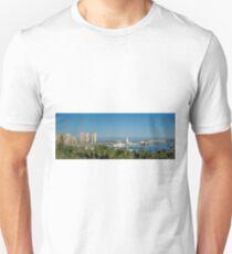 Panorama of Malaga port Unisex T-Shirt
