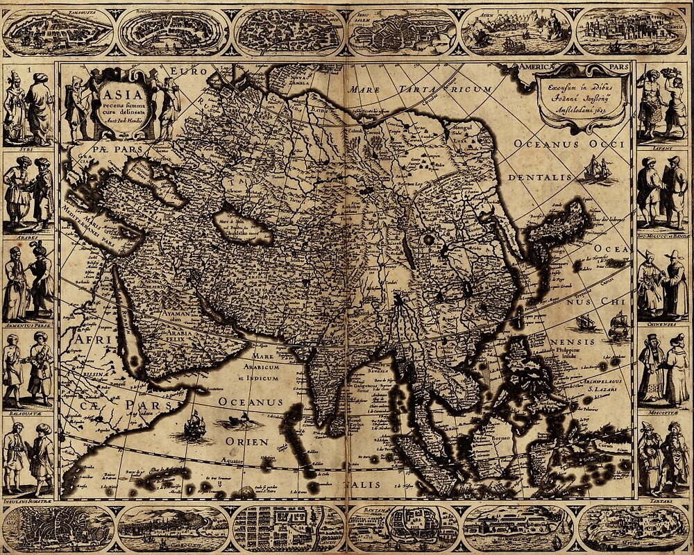 Map Of Asia 1630 by mollyfare