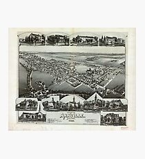 Aerial View of Annville, Pennsylvania (1888) Photographic Print
