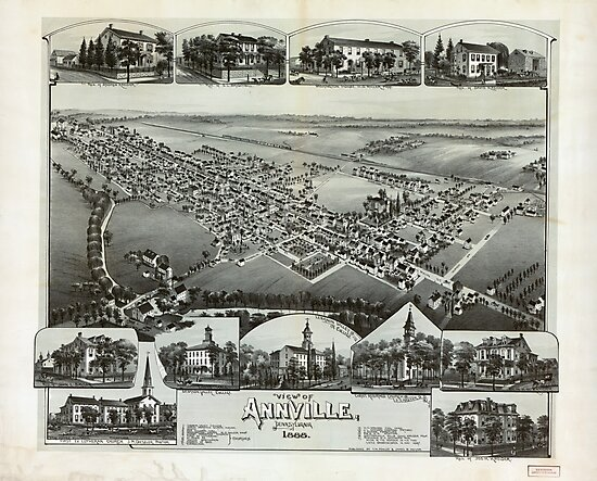 Aerial View of Annville, Pennsylvania (1888) by allhistory