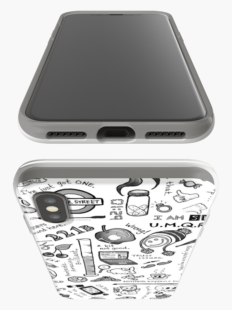 Alternative Ansicht von Sherlock Collage (Graustufen) iPhone-Hülle & Cover