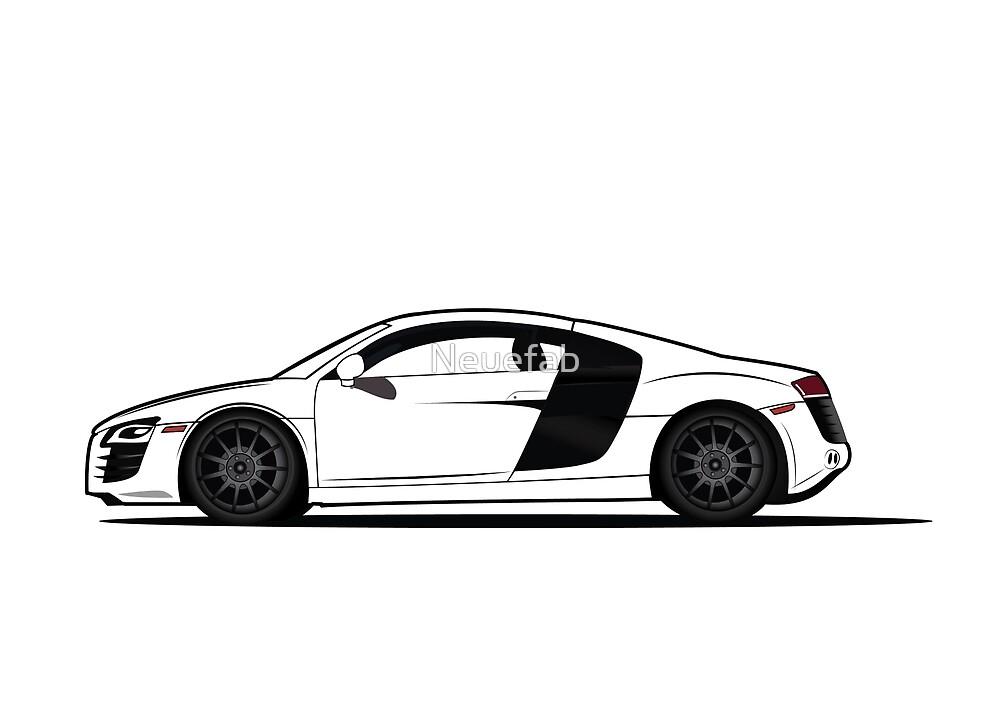 Audi R8 Vector Design Sticker Shirt Poster by Neuefab