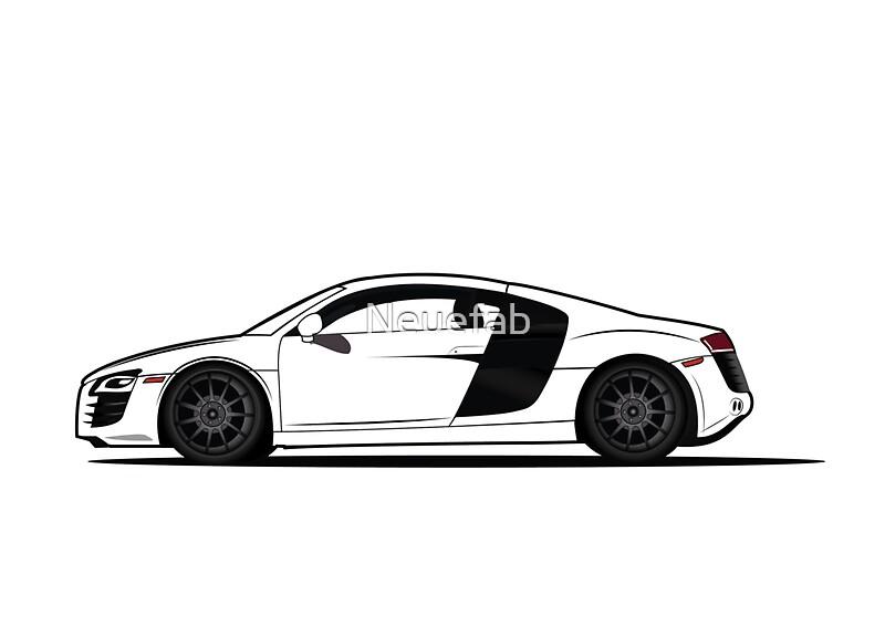 Audi R Vector Design Sticker Shirt Poster Stickers By Neuefab - Audi car vector