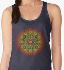 Vivid Fire Watercolor Mandala Women's Tank Top