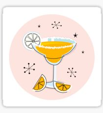 Margarita drink in hand drawn retro style Sticker