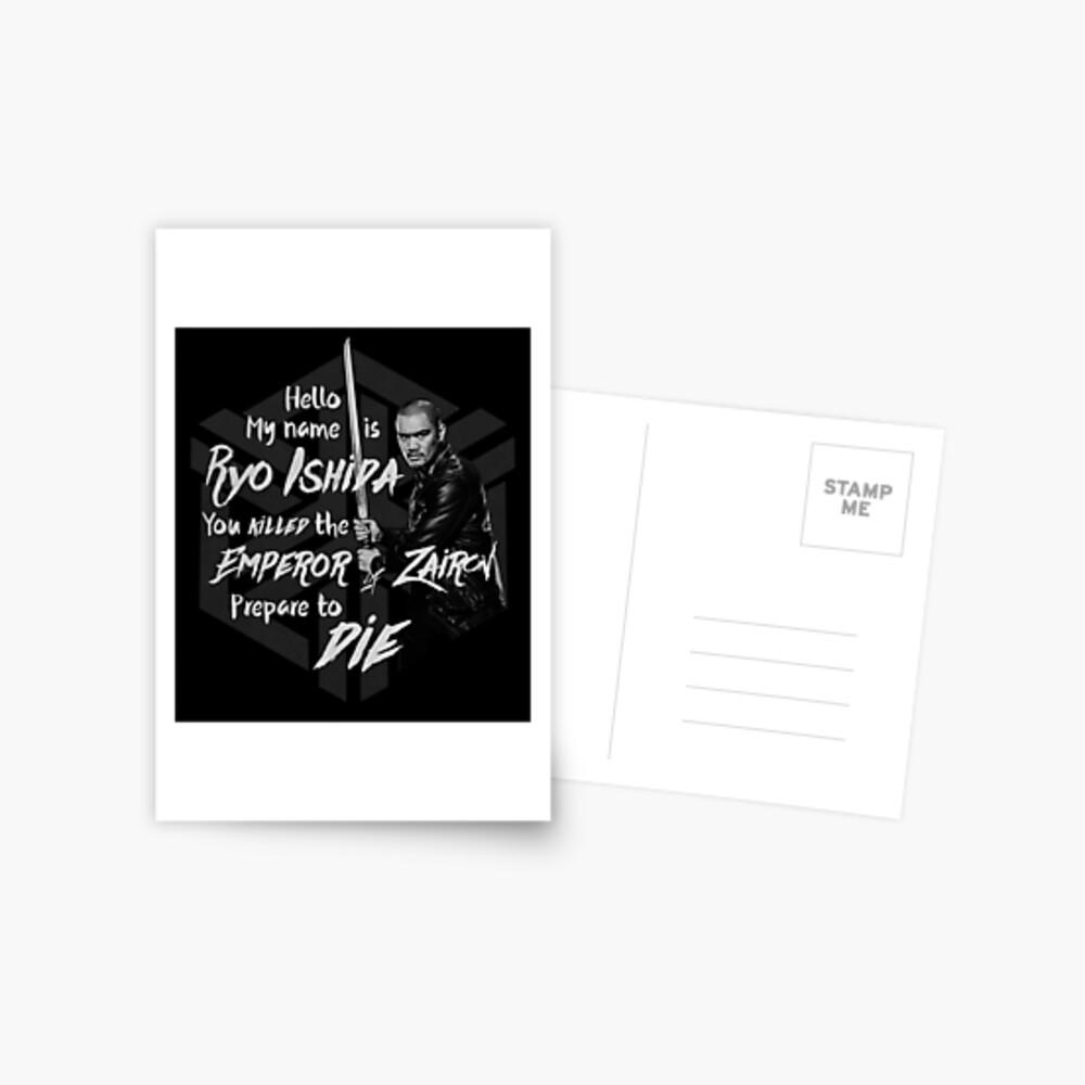 Bereite dich auf den Tod vor - Ryo Edition Postkarte
