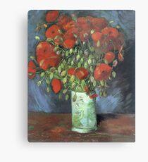 Vincent Van Gogh - Vase With Red Poppies, 1886 Metal Print