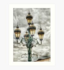 Old Fashioned Gaslights! Art Print