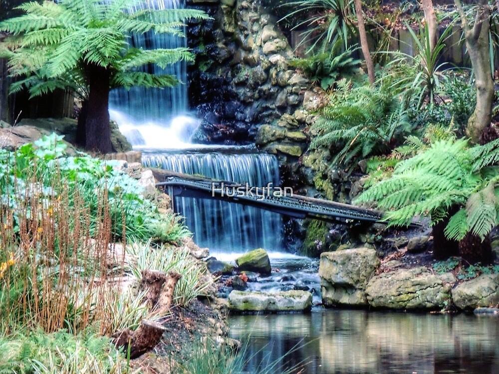 waterfall in town by Huskyfan