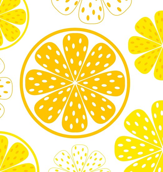 Light and fresh yellow lemon pattern or texture by Bee and Glow Illustrations Shop