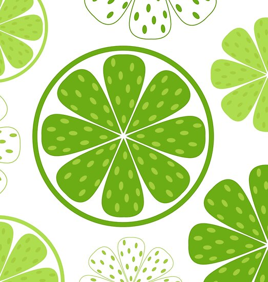 Light and fresh green limette pattern or texture by Bee and Glow Illustrations Shop
