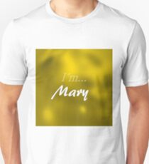 Mary in gold T-Shirt
