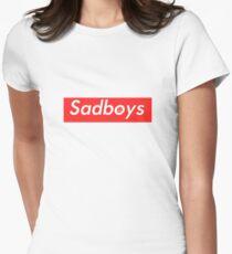 Sadboys Box Logo (L) - SADBOYS & YUNG LEAN Women's Fitted T-Shirt