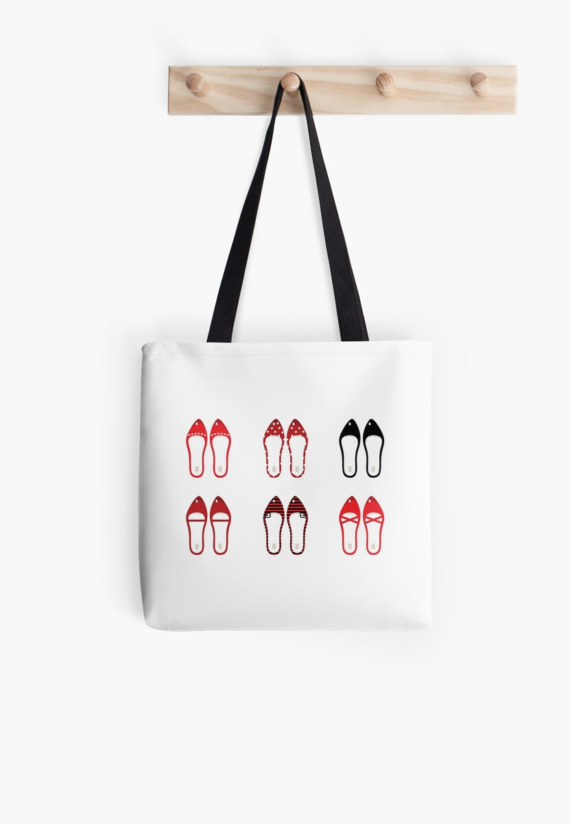 Retro simple shoes collection by Bee and Glow Illustrations Shop