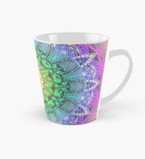 Rainbow Flower Mandala Tall Mug