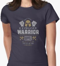 Keyboard Warrior Womens Fitted T-Shirt