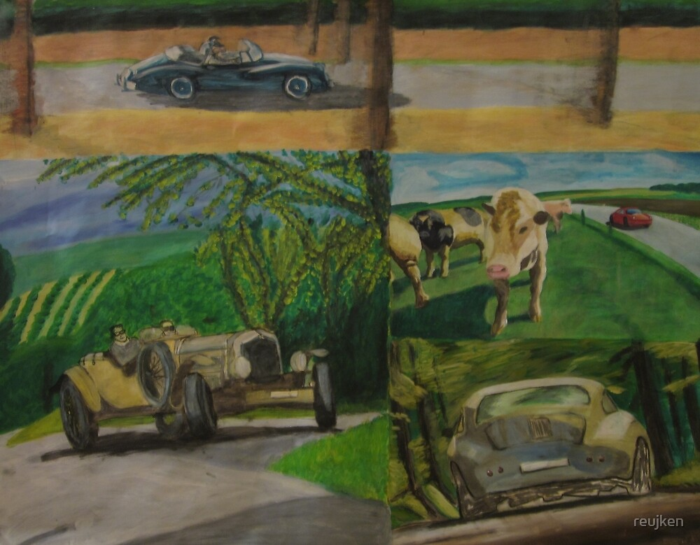 Painting Oldtimers in the nature by reujken
