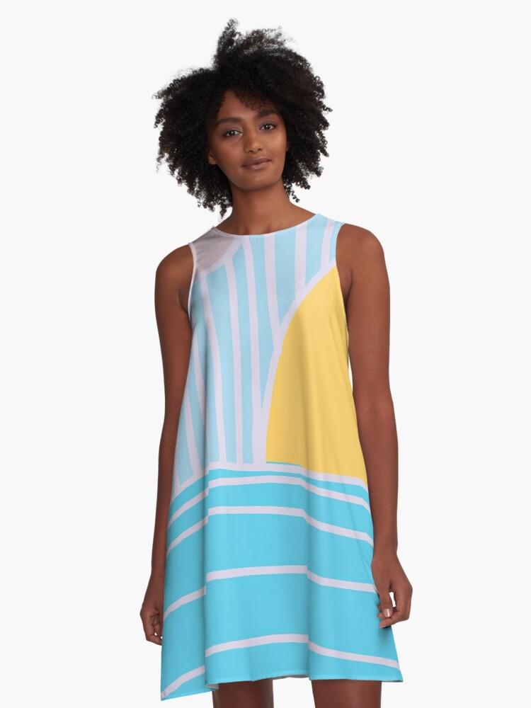A Sunset A-Line Dress Front