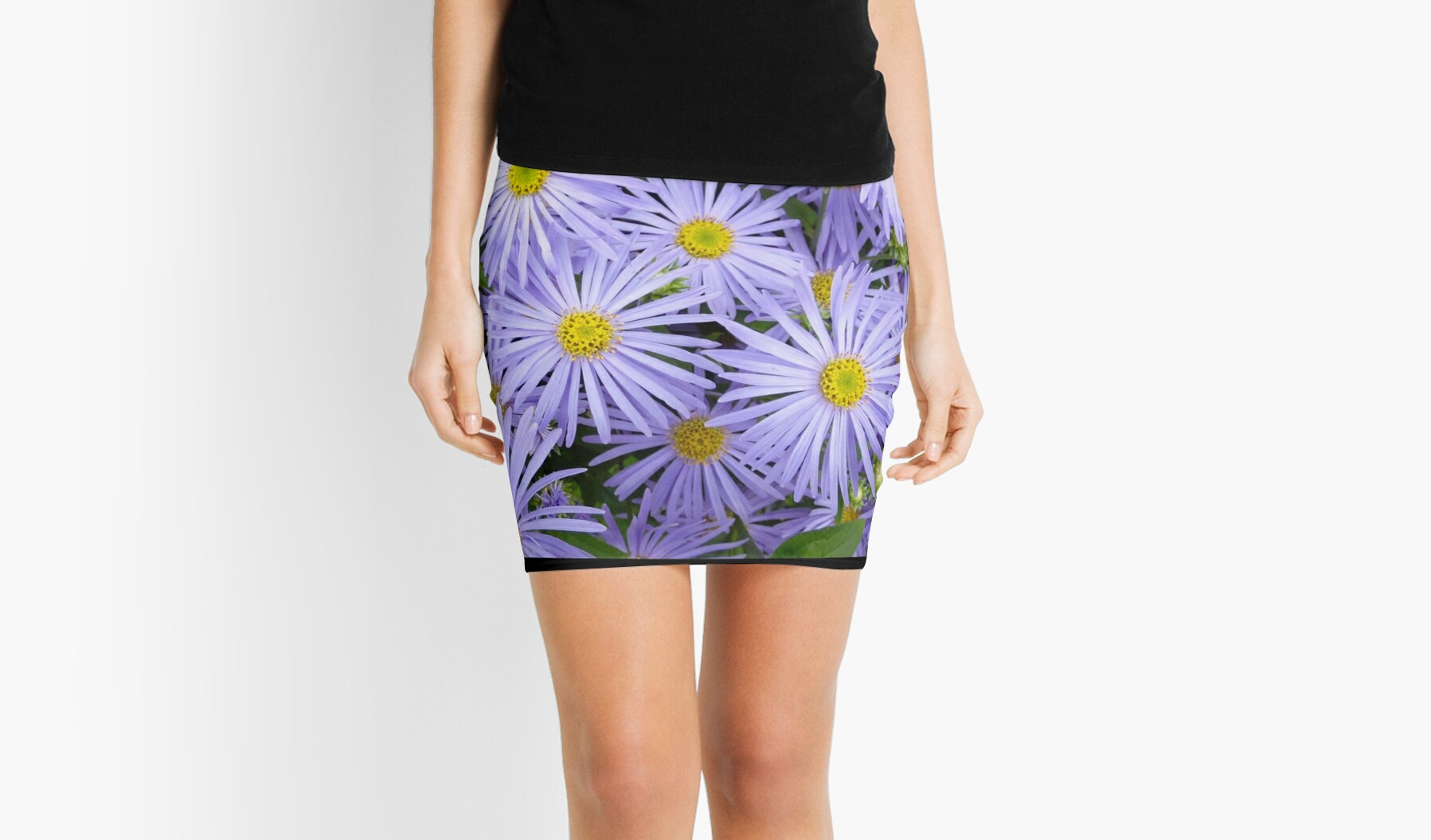 Purple and Yellow Summer Flowers by shopismo